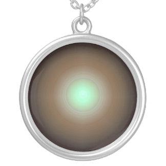 Emrald Light Pattern  JAN 03 2011 MON Round Pendant Necklace