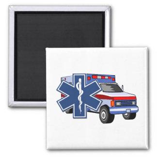 EMS Ambulance 2 Inch Square Magnet