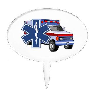 EMS Ambulance Cake Topper
