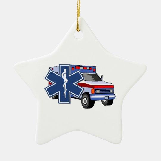 EMS Ambulance Ceramic Ornament