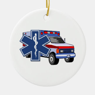 EMS Ambulance Christmas Tree Ornaments