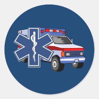 EMS Ambulance Classic Round Sticker