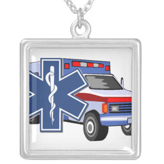 EMS Ambulance Custom Necklace