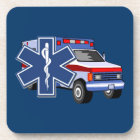 EMS Ambulance Drink Coaster