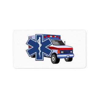 EMS Ambulance EMT Paramedic Label