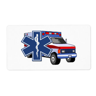 EMS Ambulance EMT Paramedic Custom Shipping Labels