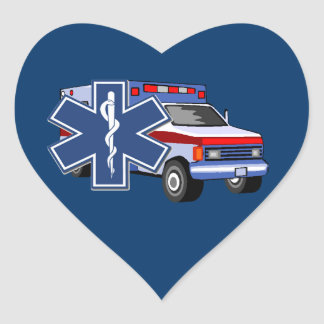 EMS Ambulance Heart Sticker