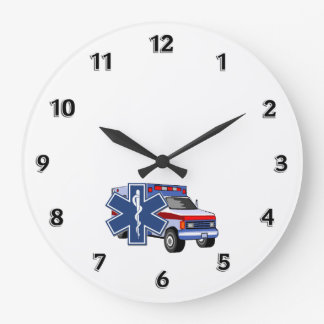 EMS Ambulance Large Clock