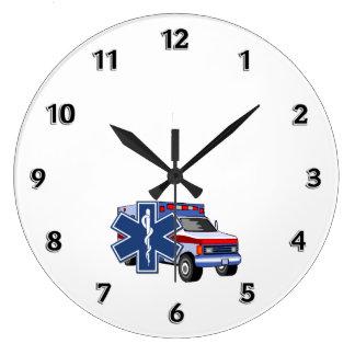 EMS Ambulance Large Clock