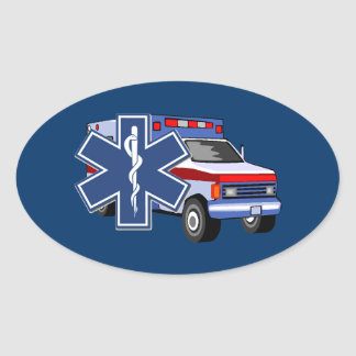 EMS Ambulance Oval Sticker