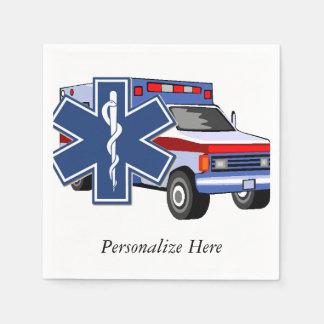 EMS Ambulance Paper Napkin