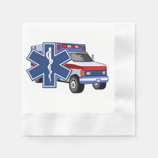 EMS Ambulance Paper Napkins
