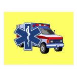 EMS Ambulance Post Card