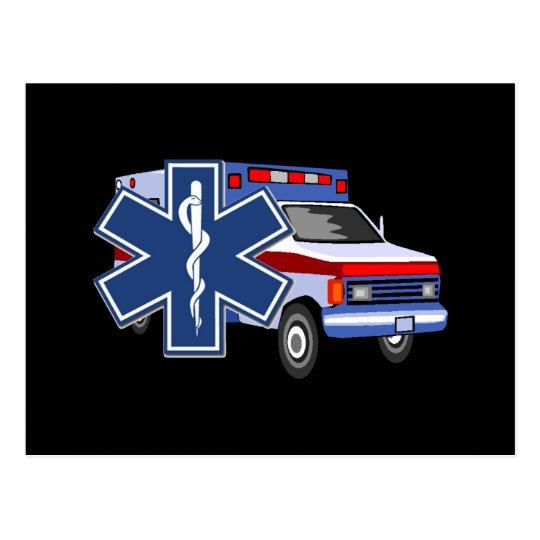 EMS Ambulance Postcard