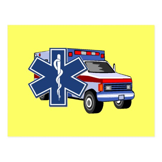 EMS Ambulance Postcard