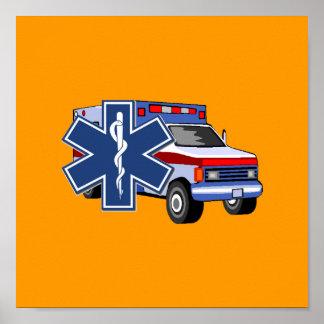 EMS Ambulance Poster