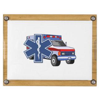 EMS Ambulance Rectangular Cheese Board