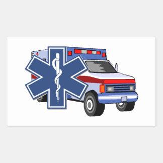 EMS Ambulance Rectangular Sticker