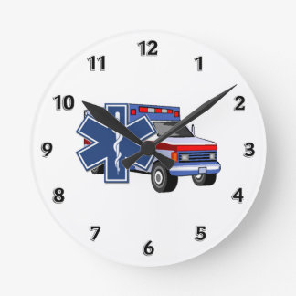 EMS Ambulance Round Clock