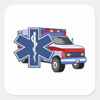 EMS Ambulance Square Sticker