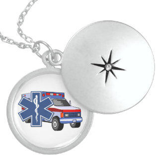 EMS Ambulance Sterling Silver Necklace