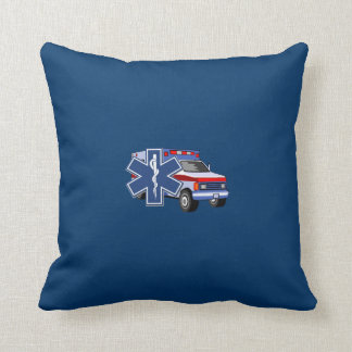 EMS Ambulance Throw Pillow