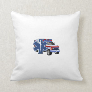 EMS Ambulance Throw Pillows