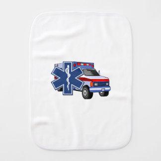 EMS Ambulance Baby Burp Cloth