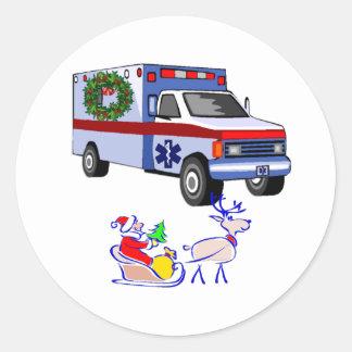 EMS Christmas EMT and Paramedic Classic Round Sticker