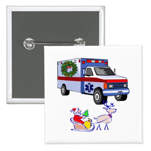 EMS Christmas Gifts 2 Inch Square Button