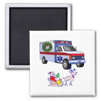 EMS Christmas Gifts 2 Inch Square Magnet