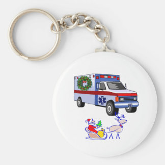 EMS Christmas Gifts Basic Round Button Keychain