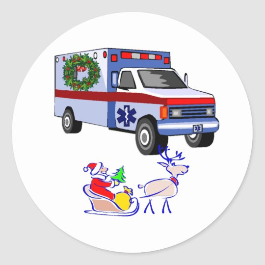EMS Christmas Gifts Classic Round Sticker