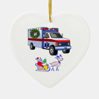 EMS Christmas Gifts Double-Sided Heart Ceramic Christmas Ornament