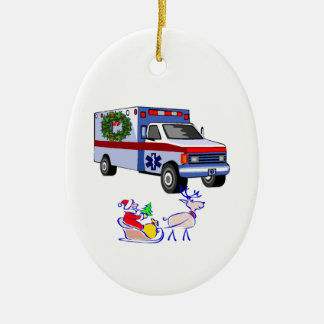 EMS Christmas Gifts Double-Sided Oval Ceramic Christmas Ornament