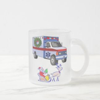 EMS Christmas Gifts Frosted Glass Coffee Mug