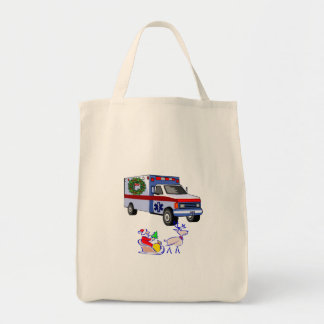 EMS Christmas Gifts Grocery Tote Bag
