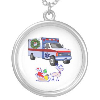 EMS Christmas Gifts Round Pendant Necklace