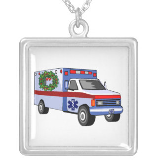 EMS Christmas Gifts Square Pendant Necklace