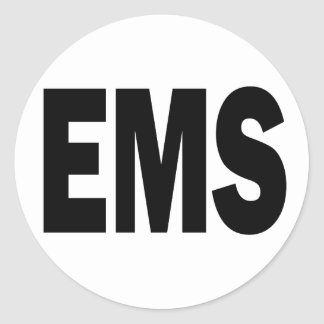 EMS - EMERGENCY MEDICAL SERVICE CLASSIC ROUND STICKER