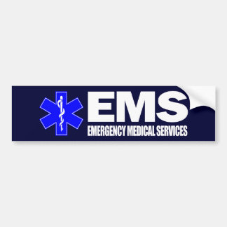 EMS -Emergency Medical Services Bumper Sticker