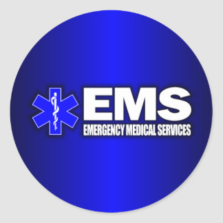 EMS -Emergency Medical Services Classic Round Sticker