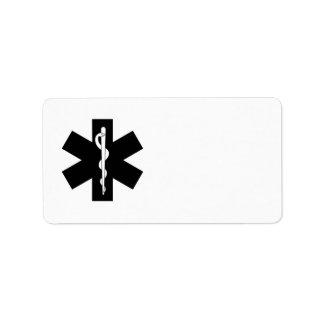 EMS Emergency Stars Address Label