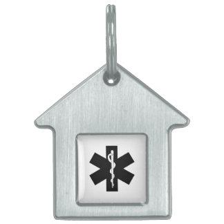 EMS Emergency Theme Pet Name Tag