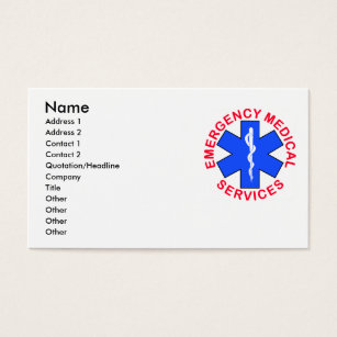 Ems business cards templates zazzle ems emt contact card colourmoves Image collections