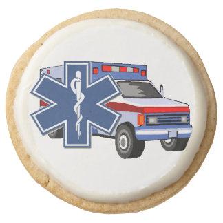 EMS EMT Paramedic Ambulance Round Premium Shortbread Cookie