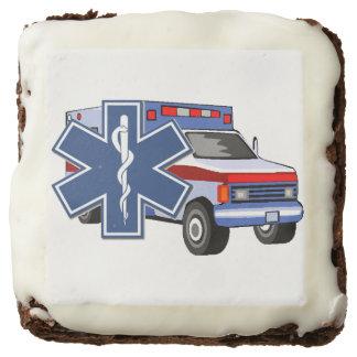 EMS EMT Paramedic Ambulance Square Brownie