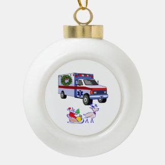 EMS EMT Paramedic Holidays Ceramic Ball Christmas Ornament