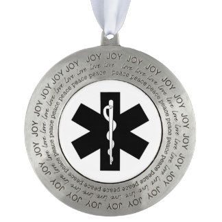EMS EMT Paramedic Pewter Ornament