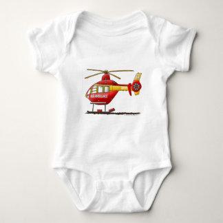 EMS EMT Rescue Medical Helicopter Ambulance Baby Bodysuit